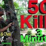 ハンターが殺した50匹の動物のハンティングシーンを3分にまとめたグロ動画。