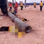 【閲覧注意】工事現場での事故。死亡した作業員のグロ動画2本。