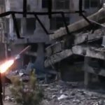 ISISのスナイパーをミサイルで吹き飛ばす動画。