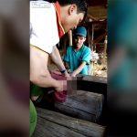 【閲覧注意】これだけは無理。サルの脳みそを生で食べるグロ動画。