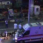 トルコで起きた自爆テロ。少なくとも10人が死亡した動画。