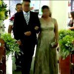 【衝撃映像】幸せな結婚式のはずが・・・。新郎新婦を背後から襲うヒットマン。