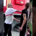 おじいちゃんに喧嘩を売る若者。しかしおじいちゃんは元ボクサーだった。