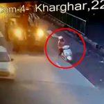 """【閲覧注意】バイクで転倒 → クレーン車に """"頭を潰される"""" グロ動画。"""