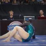 【閲覧注意】女子体操選手、メチャクチャ痛そうな骨折をしてしまうグロ動画・・・。