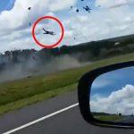 """【衝撃映像】酔っ払った男、高速道路をバイクで """"逆走"""" した結果・・・。"""