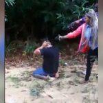 【閲覧注意】女ギャングさん、ライバルギャングの頭を銃で撃ち抜くグロ動画。