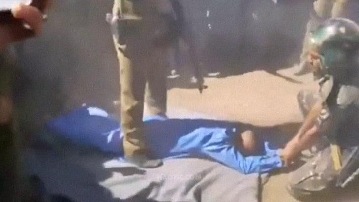 【閲覧注意】女の子をレイプした男の公開処刑。大歓声をあげる群衆。