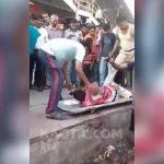 【閲覧注意】電車に轢かれて右腕切断されてしまったグロ動画。