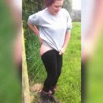 お馬鹿チャレンジ。女の子が電気柵にお尻を当ててみた結果ww