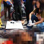 【閲覧注意】バイク事故で死亡した女の子、頭割れて脳ミソ飛び散るグロ動画。