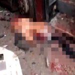 【超!閲覧注意】爆撃を受けた街。肉片散らばる地獄絵図すぎるグロ動画。