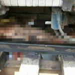【閲覧注意】電車に轢かれた男、両足切断されて死亡したグロ動画。