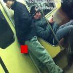 地下鉄車両内でさりげなくオナニーする男、女の子たちに撮影されて晒されてしまう。