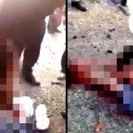 【閲覧注意】自爆テロ犯の男、バラバラになった身体。