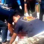 【超!閲覧注意】もうグチャグチャ・・・バイク事故で死亡した男性のグロ動画。