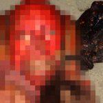 【超!閲覧注意】顔の皮膚を剥がされた死体。店の前で撮影された恐ろしいグロ動画・・・。