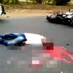 【閲覧注意】脳ミソがまるごと外に・・・バイク事故で死亡した男性のグロ動画。