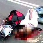 【閲覧注意】バイクに乗った男性、頭がパックリ開いて死亡したグロ動画。