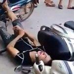 【閲覧注意】事故にあった男性、見てるこっちが怖くなるほど痙攣してしまう・・・。