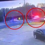 現場に急行する2台のパトカー、交差点で衝突してしまう珍しい事故映像。