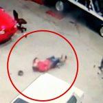 【衝撃映像】エンジンをかけた車から勢いよく飛び出した部品により死亡した男性。
