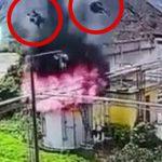 【衝撃映像】ガスタンク修理中の作業員、爆発により吹き飛ばされてしまう。