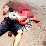 【閲覧注意】頭が完全に破壊されて死亡した男のグロ動画。