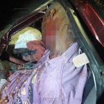 【閲覧注意】パトカーに追跡された強盗たち、事故って死亡したグロ動画。
