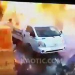 【衝撃映像】自爆テロの瞬間。