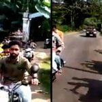 【衝撃映像】結婚式を祝うバイクの集団、車に追突されてしまう・・・。