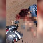 【閲覧注意】バイクに乗っていた女性、転倒して顔を地面に強打してグチャグチャに・・・。