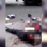 """【閲覧注意】バイク事故により """"股が裂け顔が潰れた"""" 女性のグロ動画。"""