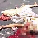 【閲覧注意】車に轢かれて頭を潰されてしまった女性のグロ動画・・・。