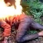 【閲覧注意】森の中で女性が燃やされてるんだけど・・・。