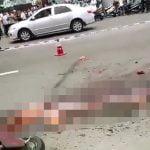 【超!閲覧注意】トラックに轢かれた女性、ミンチになってしまう・・・。