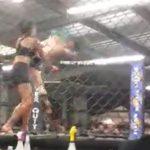 女性総合格闘家、試合開始わずか5秒で相手をノックアウト。