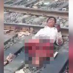 【閲覧注意】列車に両脚を切断されてしまった男のグロ動画。