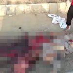 【閲覧注意】頭をトラックに潰されて死んだ男のグロ動画・・・。