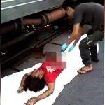 【閲覧注意】列車に轢かれて真っ二つになってしまった女性・・・。