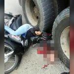【閲覧注意】トラックに頭を潰された女性、脳がごっそり飛び出たグロ動画。