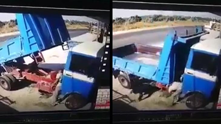 油圧ダンプの故障を修理していた運転手、突然作動した荷台に挟まれて死亡してしまう・・・。