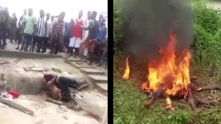【閲覧注意】住民たちにリンチされ、最終的に燃やされて殺された男・・・。