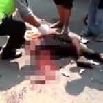 【閲覧注意】トラックに轢かれて内臓飛び出て死んだ女性をひたすら撮影し続ける人々。