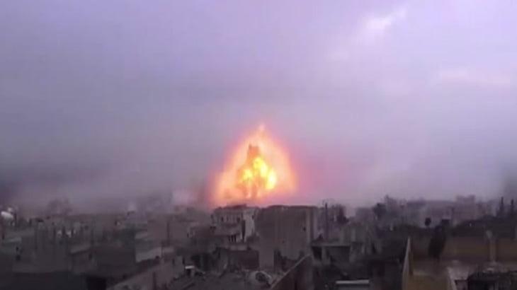 【衝撃映像】この自爆テロの威力、ヤバすぎるだろ・・・。