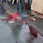 【閲覧注意】トラックに轢かれてグチャグチャになった男のグロ動画。