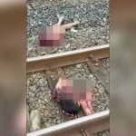 【閲覧注意】列車に轢かれて胸から下が切断されてしまった女性のグロ動画・・・。