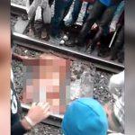 【閲覧注意】列車に轢かれて死んだ男の身体、もう何がなんだか分からない・・・。