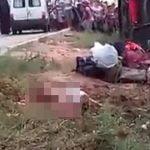 【閲覧注意】バスの事故現場、肉塊となった死体が無数に転がる地獄のような光景・・・。