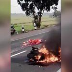 【閲覧注意】事故で下半身がグチャグチャの女性、苦しみもがくグロ動画。